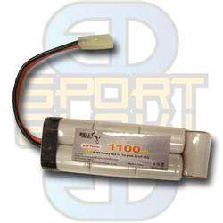 8,4V 1100mAh, NI-MH - Mini Type, Batteri