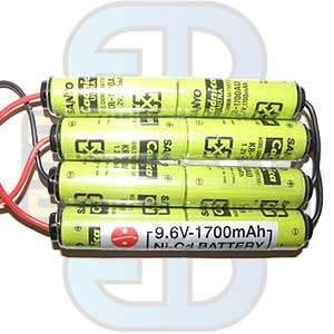 9,6 V - 1700mAh - MC24, batteri