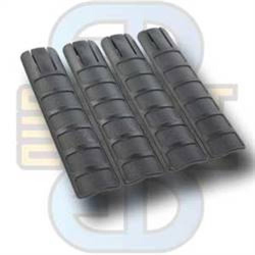 Ergonomic RIS Rail Cover (4x) (Black)
