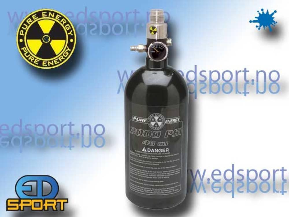 Luftsystem, 0,8 liter / 200 bar, med regulator