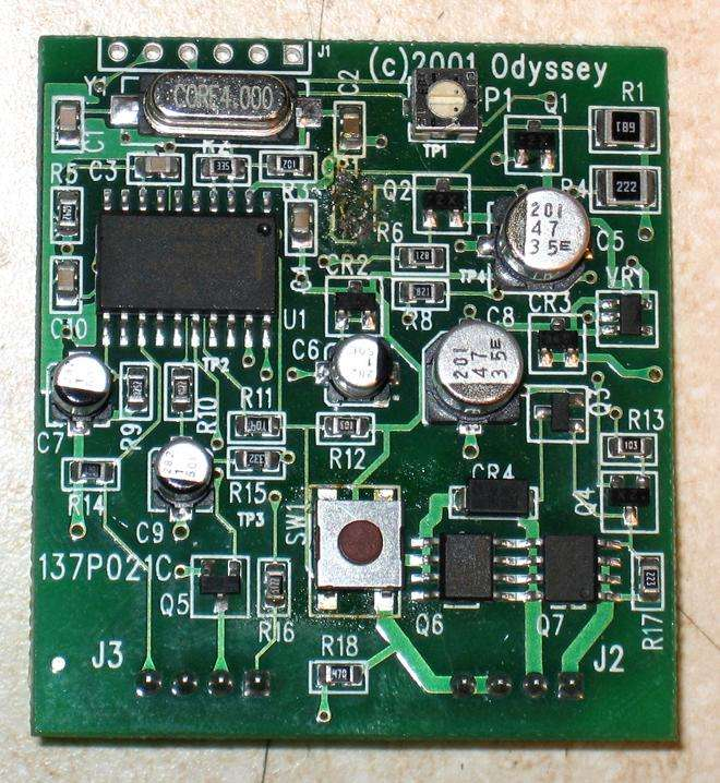 Halo B, Circuit Board with Z Code