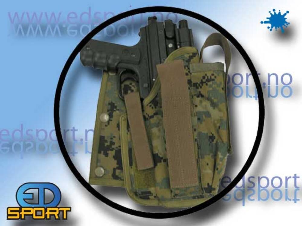 Pistolhylster for Paintballvest
