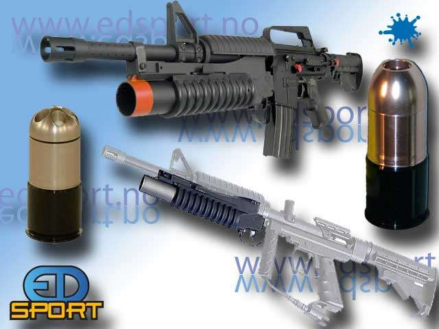 M43 Thunder Grenade, M203 (.43 cal. paintball)