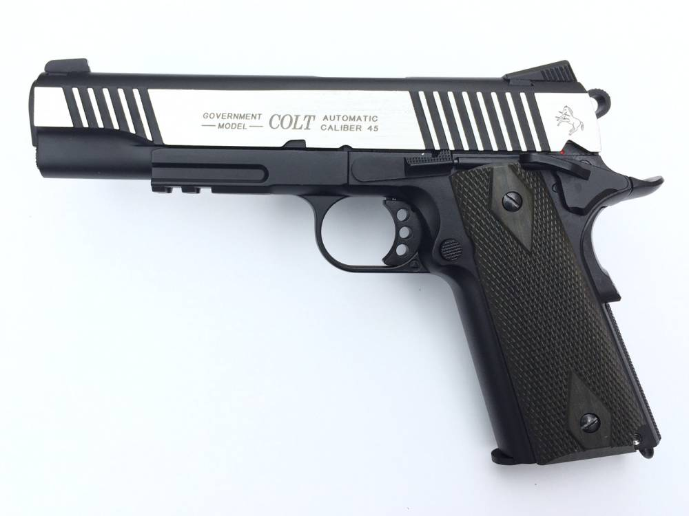 Colt 1911 Rail Gun DT Full Metall & Blow Back, Co2