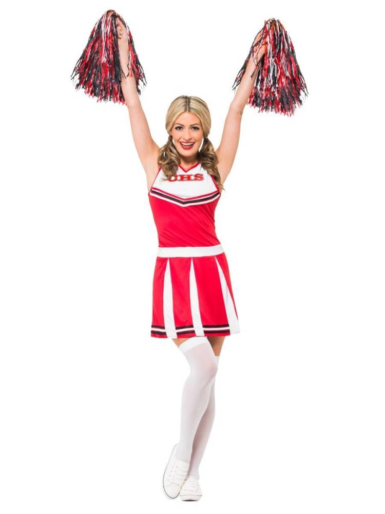 Cheerleader Kostyme Rød