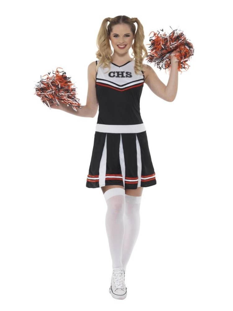 Cheerleader Kostyme Svart