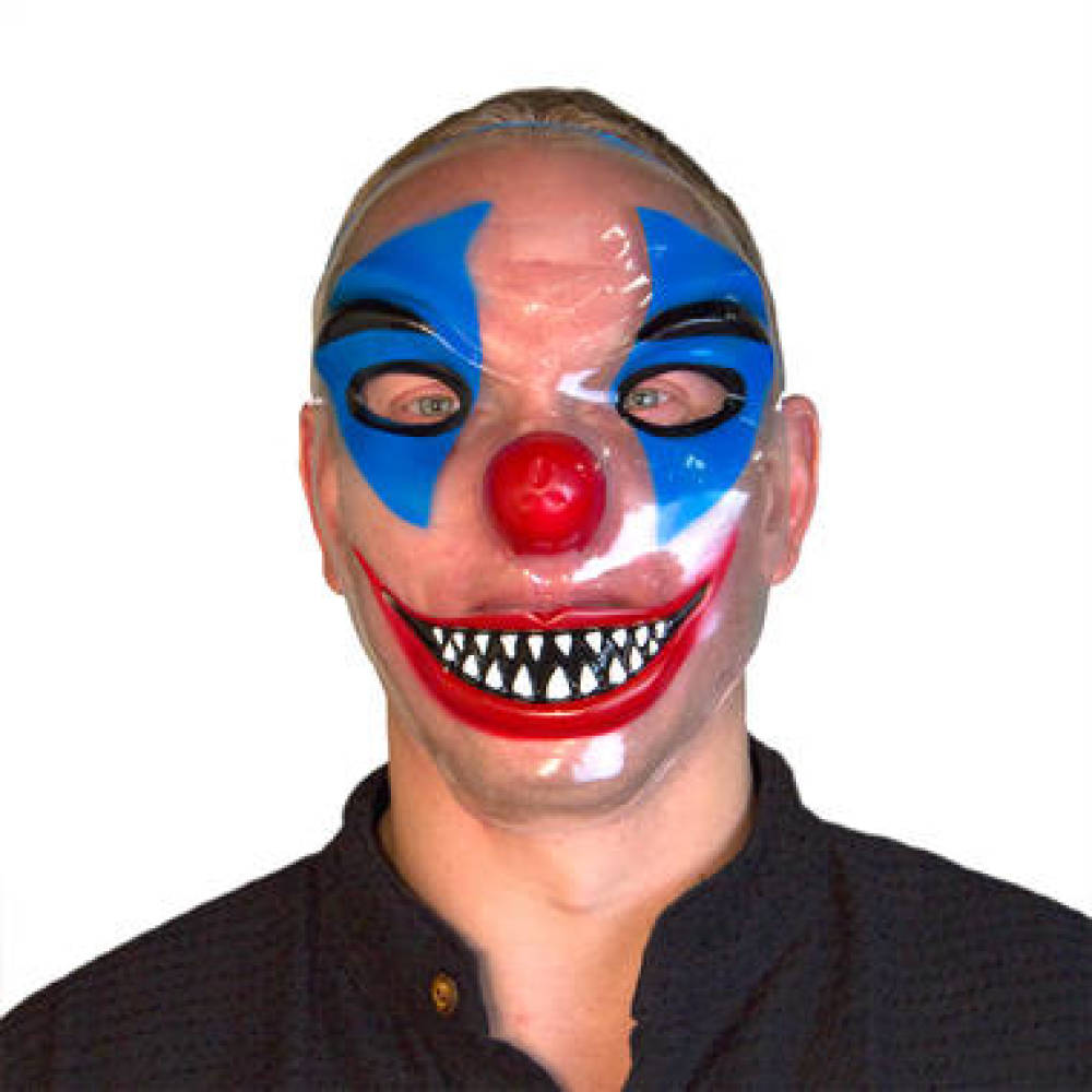 Transparent Clown Maske