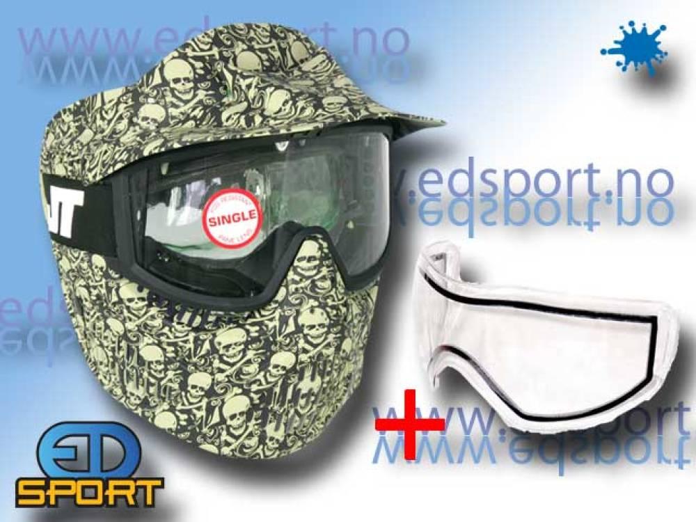 JT Alpha LE Skull mask, inkludert dobbeltglass