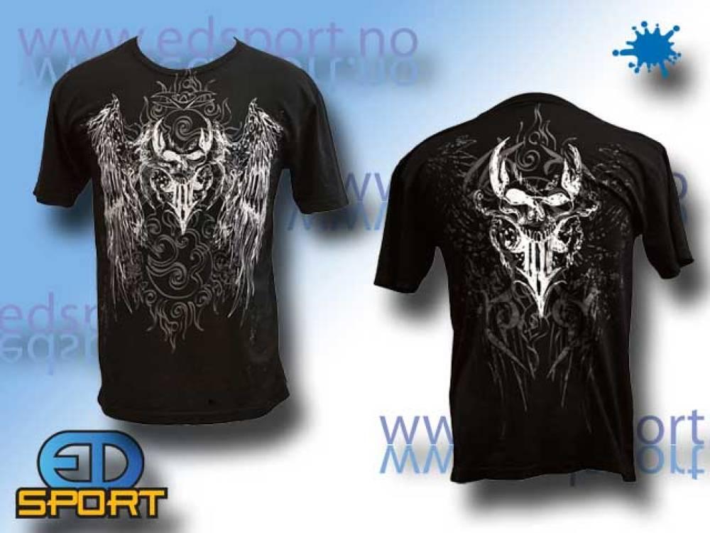 T-Skjorte Valken Black Skulls