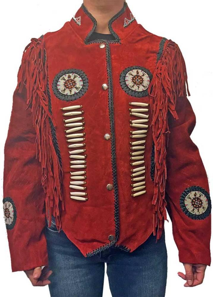Indianer jakke i skinn | FINN.no