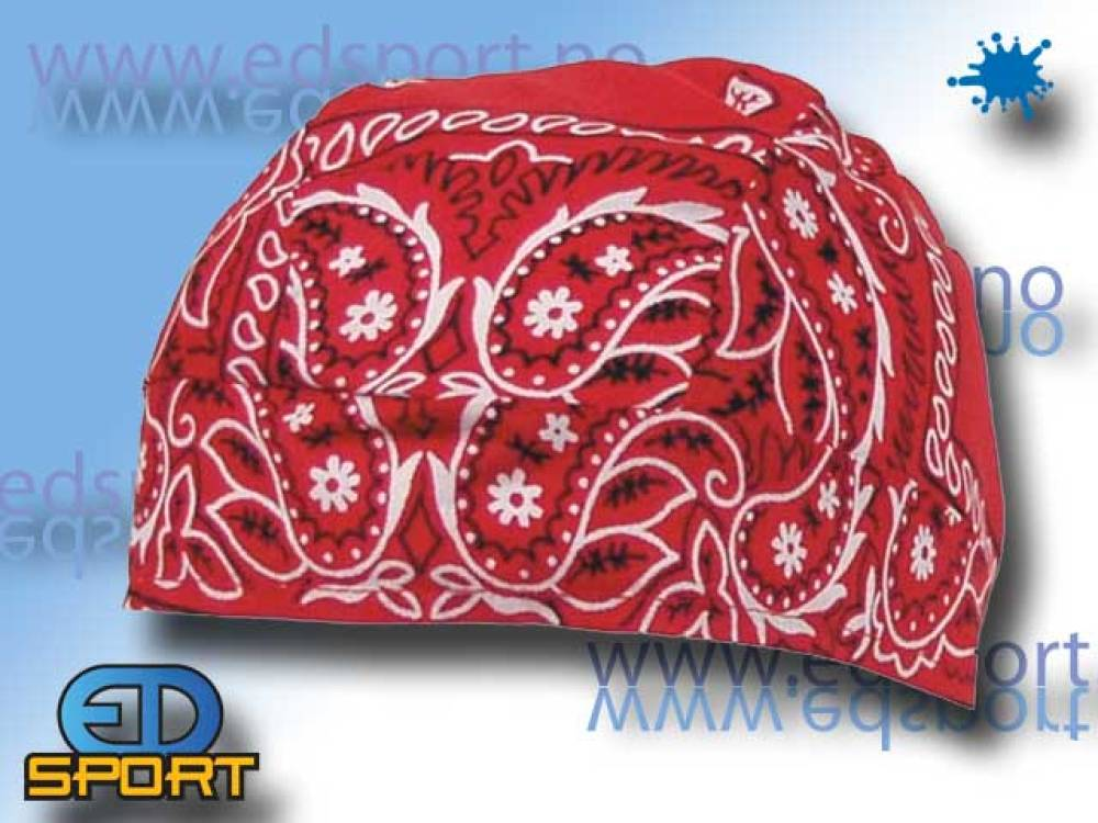 Headwrap, Paisley Red