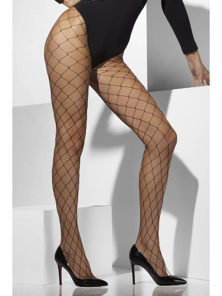 Diamond Net Tights - Svart