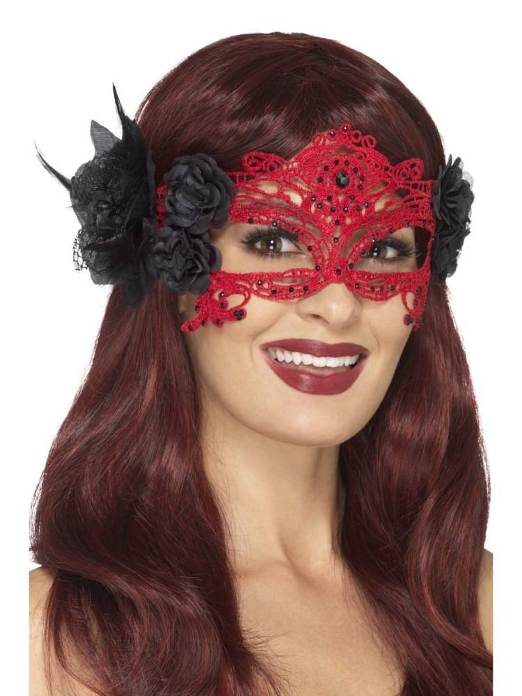 Lace Day Of The Dead Maske