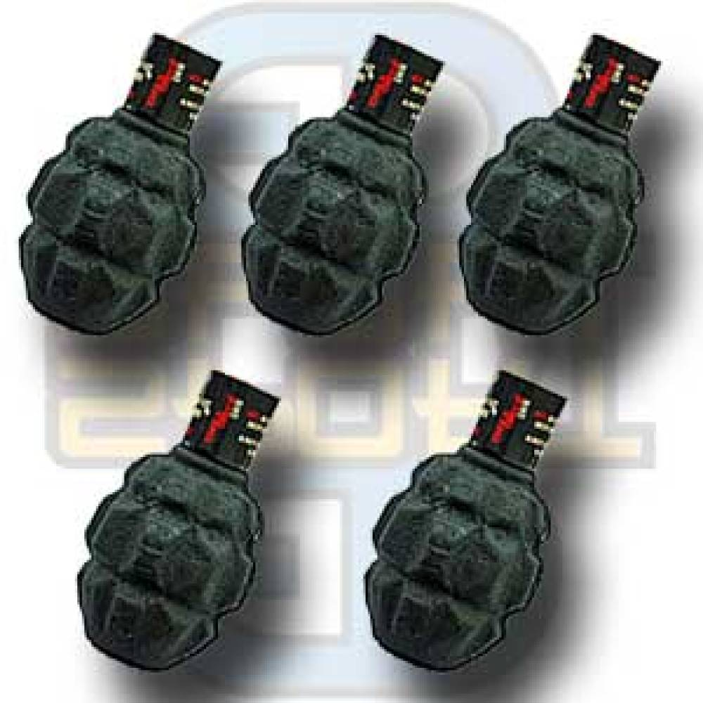Granat, Paintball, Stor, 5-pakk