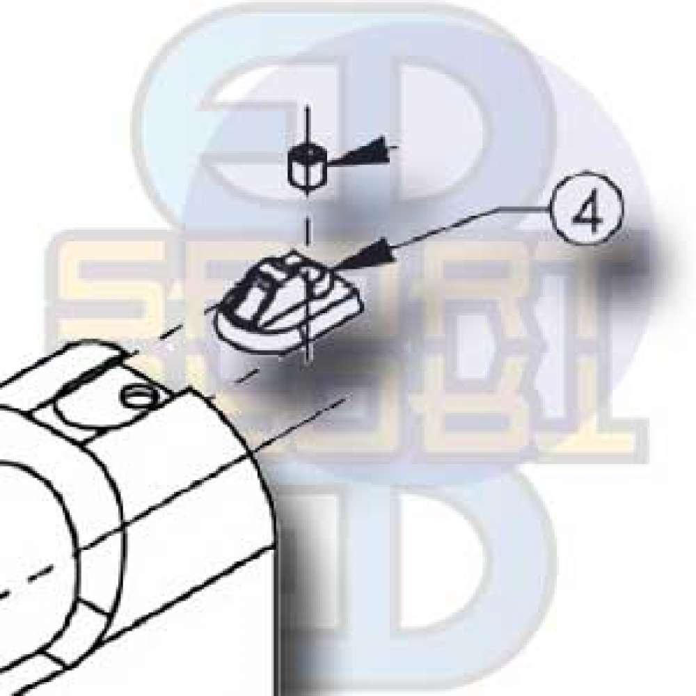T9.1 Hopper Adpt Screw - H-SHCS 440 1/4