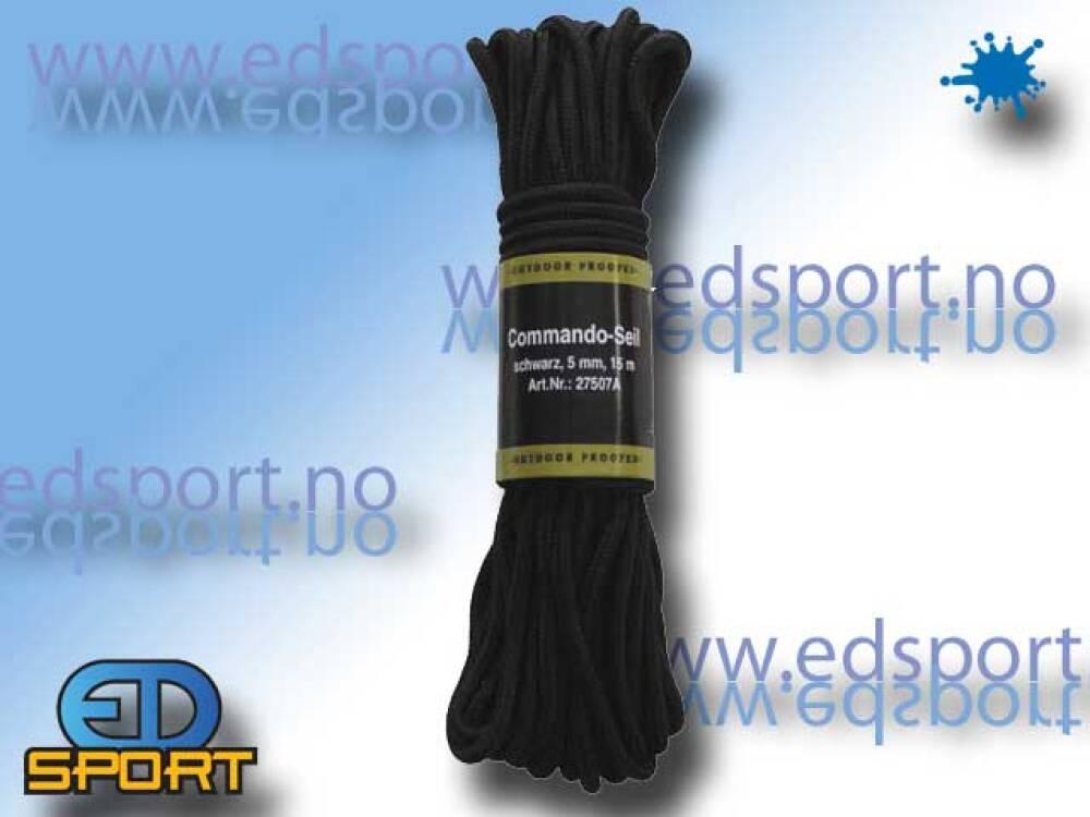 Tau, Commando, 5mm, 15 meter, svart