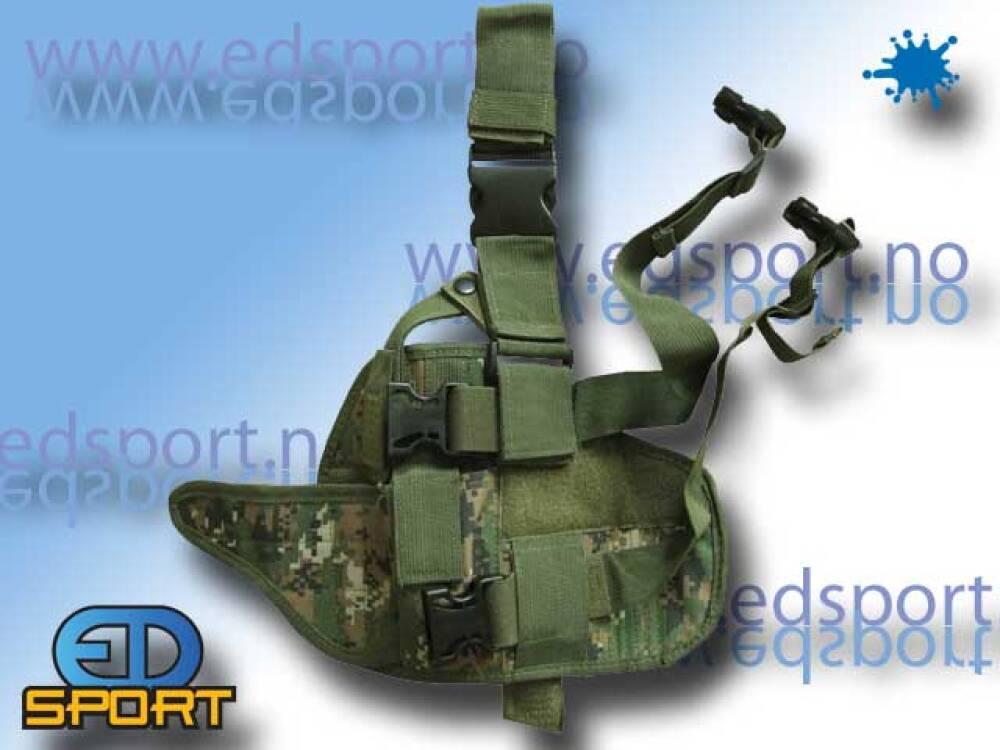 Pistolhylster, med praktiske lommer, hoftemonterin