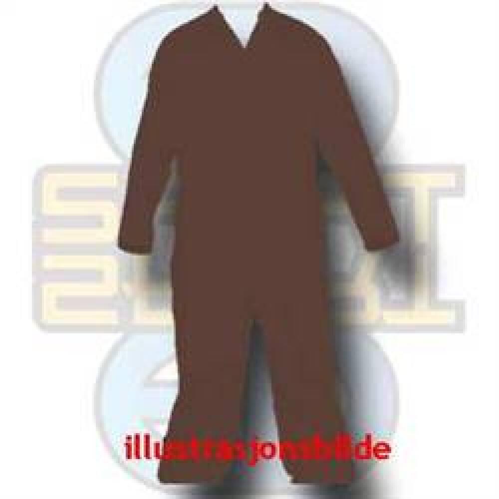 Kjeledress, engangs, mørk brun, 50 pakk