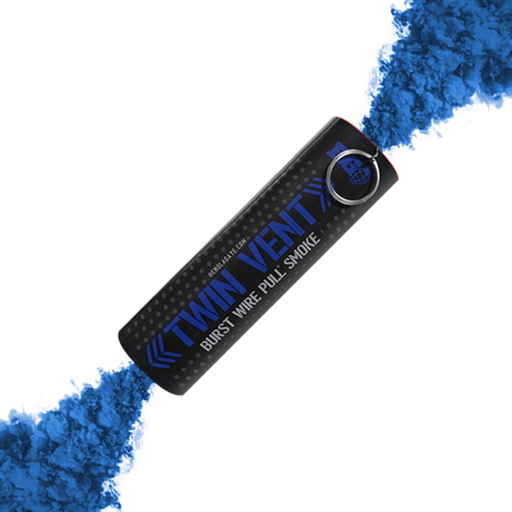 Røyk bombe, Blå, med ringutløser, Burst