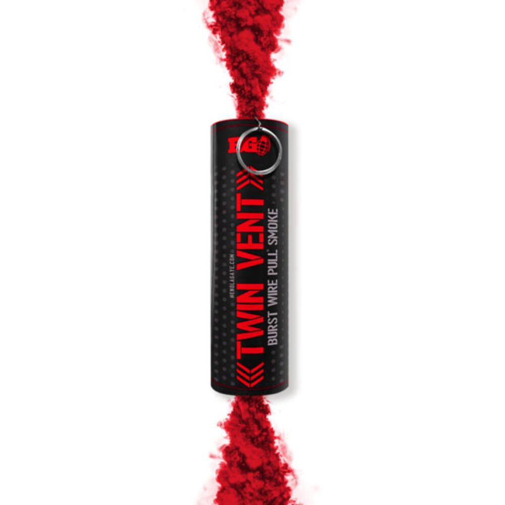 Røyk bombe, Rød, med ringutløser, Burst